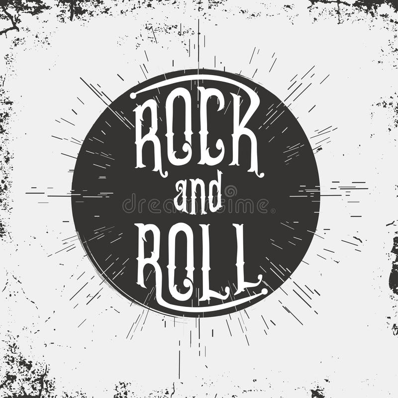 Rock and Roll. Typography for t-shirt graphic. Vector vector illustration