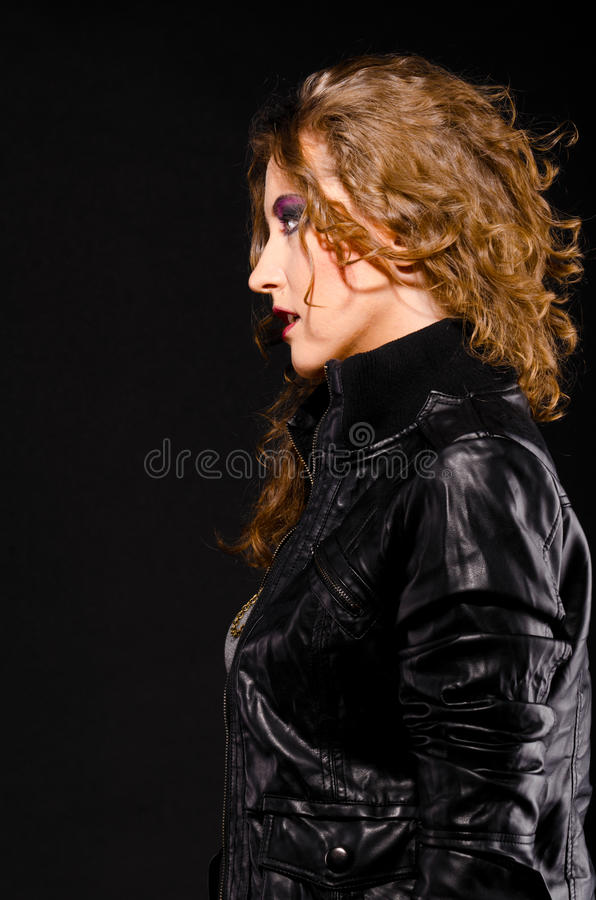 Download Rock and roll woman stock image. Image of blonde, aggressive - 21926831