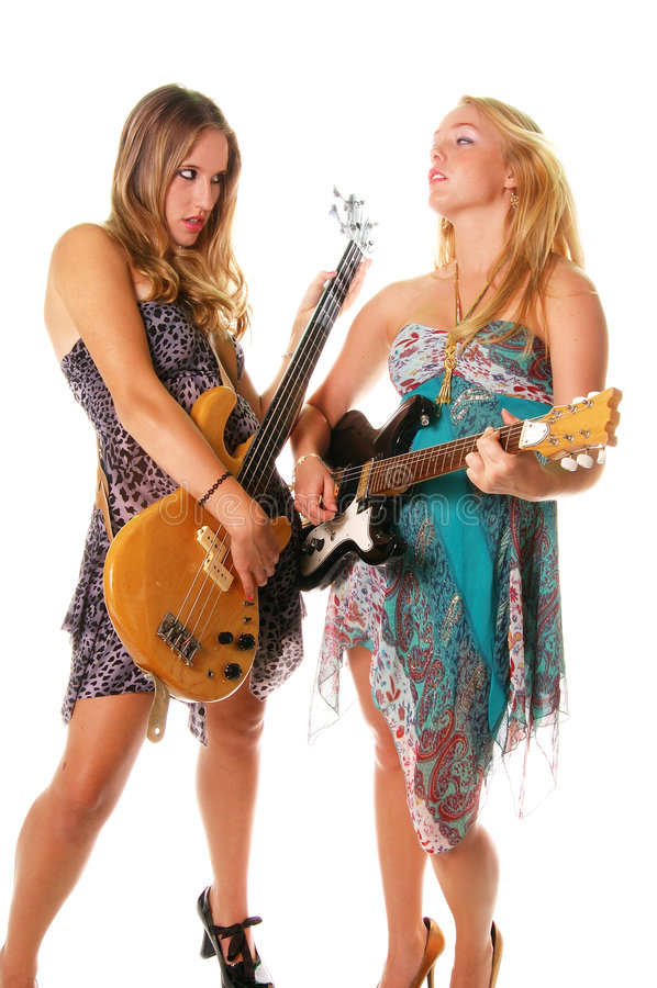 Rock and Roll Women royalty free stock photography