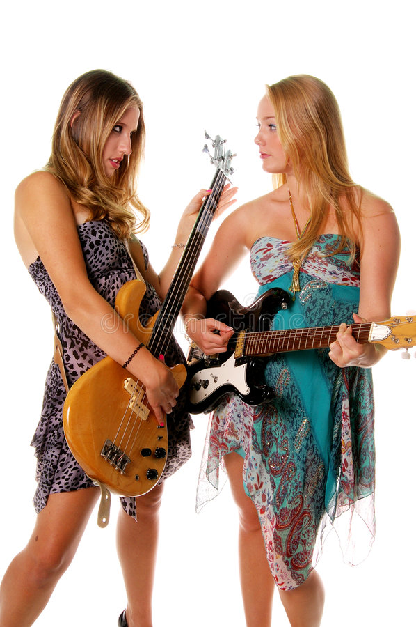 Rock and Roll Women royalty free stock photos
