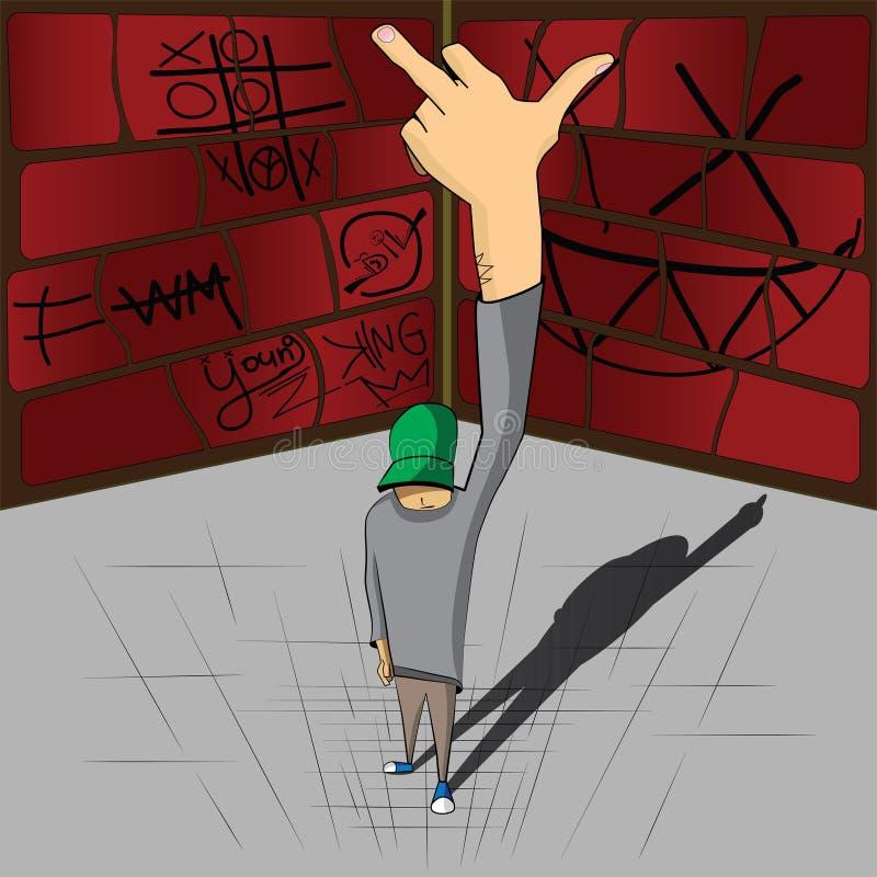 Rock And Roll z Doodle tłem ilustracji