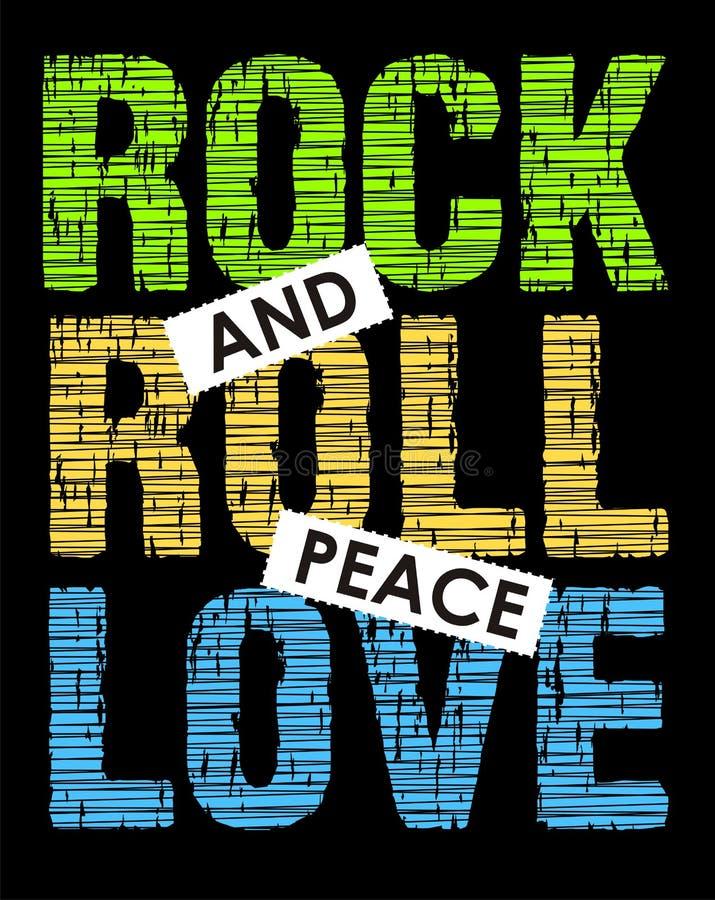 Rock-and-Rollfriedensliebe, Vektorbild lizenzfreie abbildung