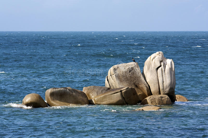 Download Rock and the sea stock image. Image of blue, ocean, sail - 23387759