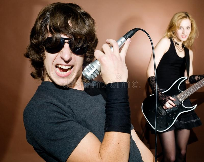 Rock singer royalty free stock photos