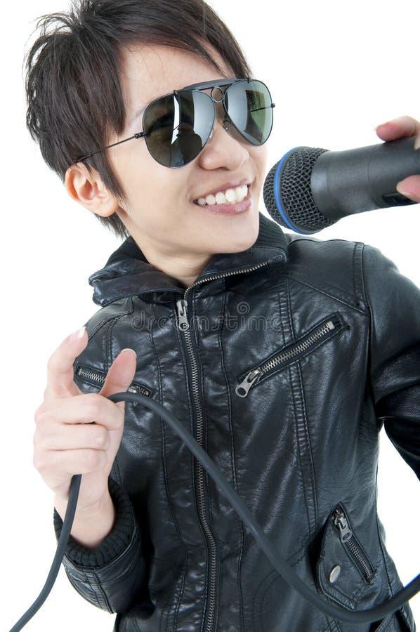 Rock singer stock photography