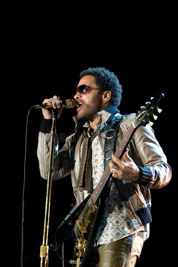 Rock Singer Lenny Kravitz At Concert Editorial Stock Image