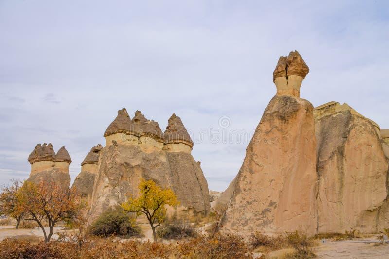 Rock Sites of Cappadocia in autumn. Rock Sites of Cappadocia, Kapadokya in autumn, Turkey stock photography