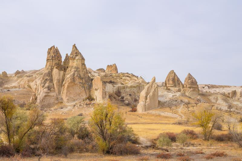 Rock Sites of Cappadocia, Kapadokya, Turkiet royaltyfria foton