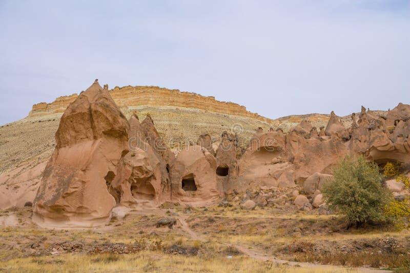 Rock Sites of Cappadocia, Kapadokya, Turkiet royaltyfri fotografi