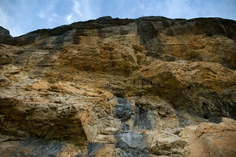 Rock and sky royalty free stock image
