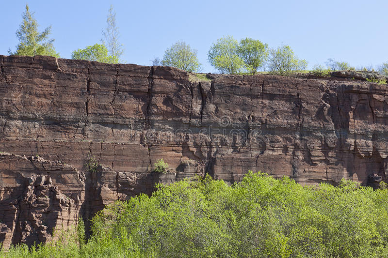 Rock slate in a open pit mine royalty free stock photos