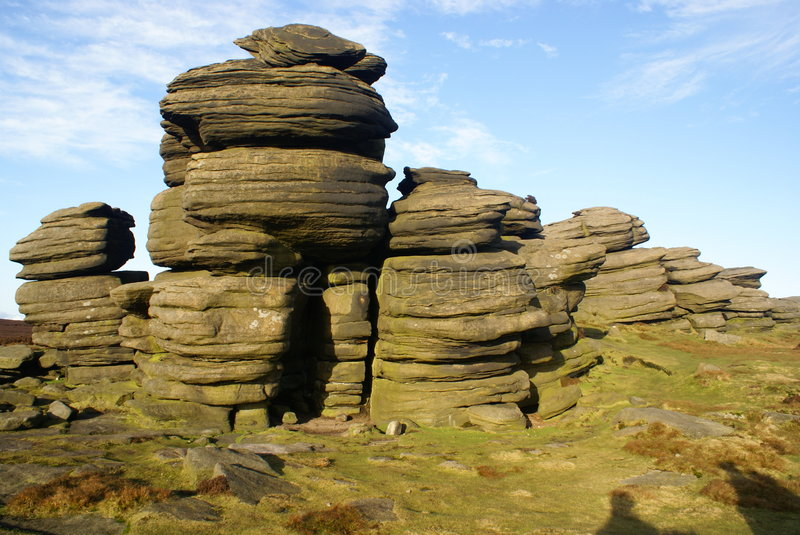 Download Rock Stacks In The Sheffield Peak District Stock Photo - Image: 5345206