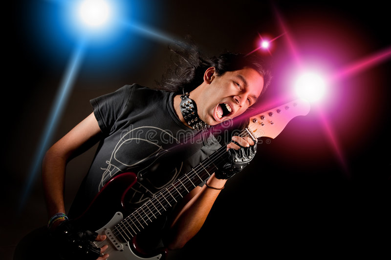 Download Rock star stock photo. Image of expression, punk, guitar - 7943740