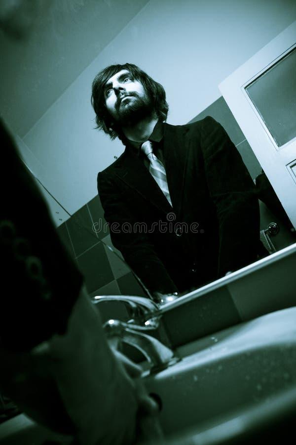 Rock star freddo in azzurro fotografia stock libera da diritti