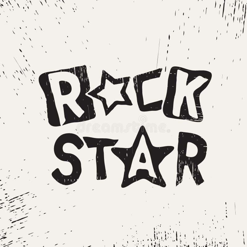 Rock star grunge text stock illustration