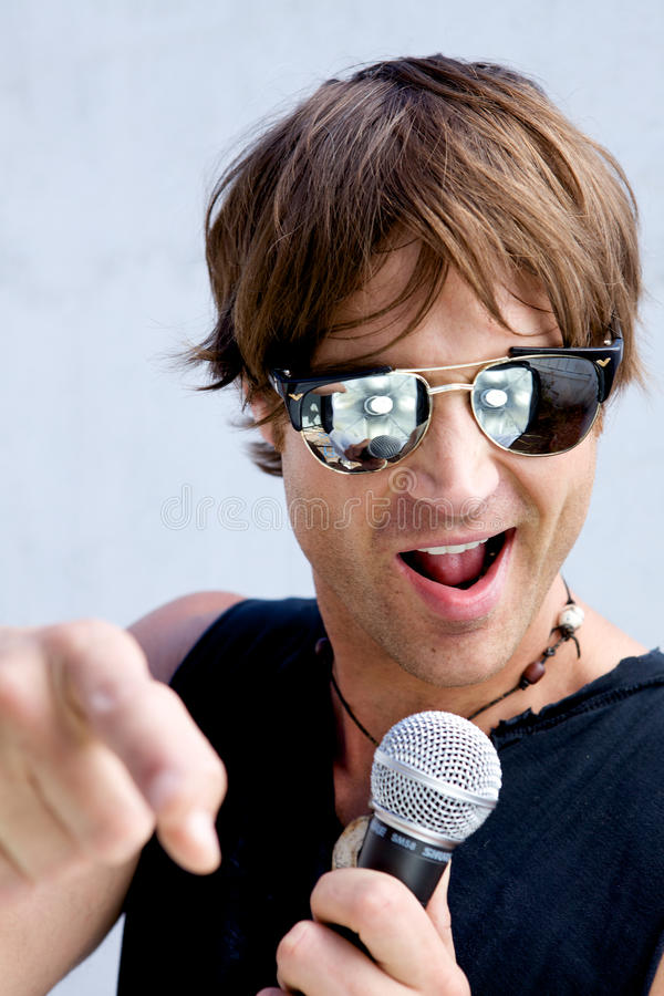 Rock Star Jamming Out stock image
