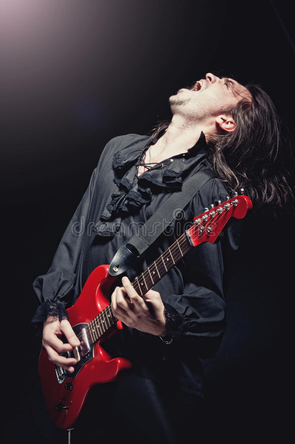 Download Rock-star Playing A Concert Stock Image - Image: 17257779