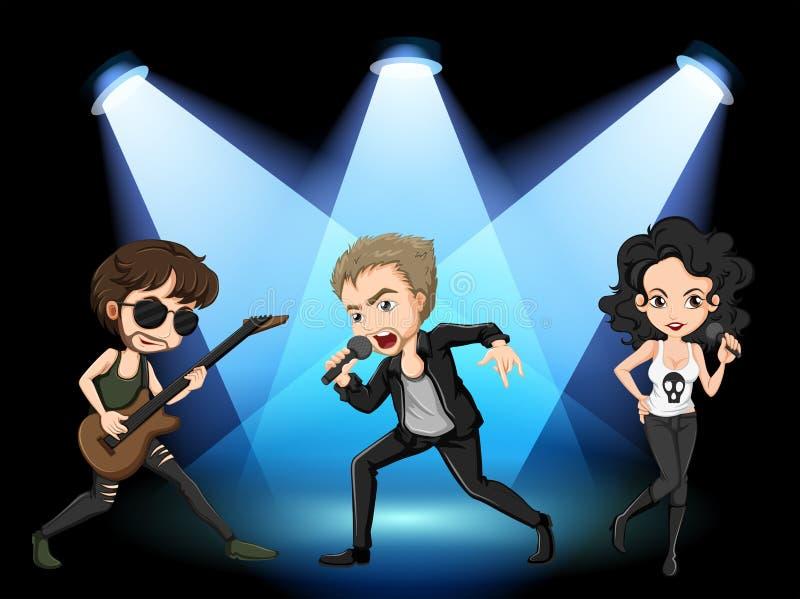 Rock stars stock illustration
