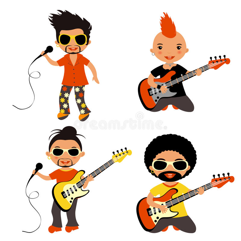 Download Rock stars set stock vector. Image of performer, collection - 26240508