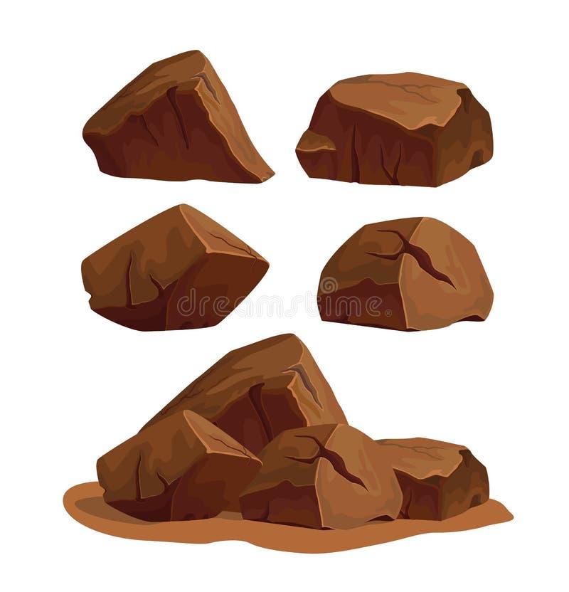 Rock stone set 3 royalty free illustration