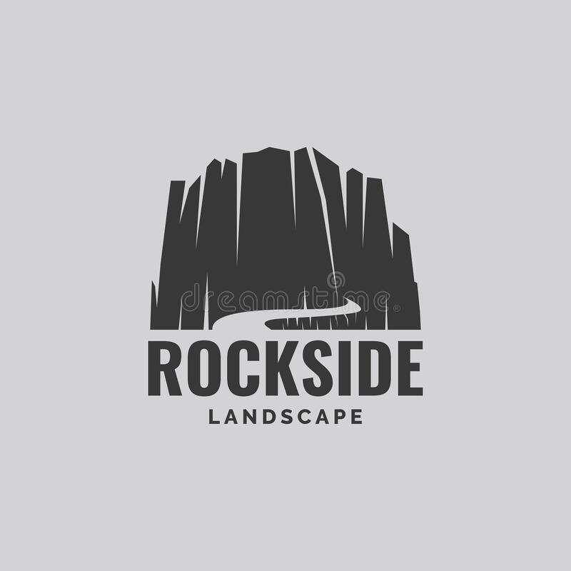 Free Rock Stone With Way Illustration Logo Design  Template Royalty Free Stock Photos - 209640198