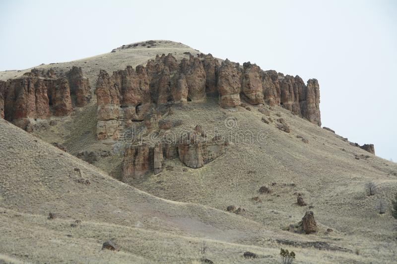 Image 2 Rock Strata, John Day Fossil Bed, Clarno Unit, in Central Oregon royalty free stock image