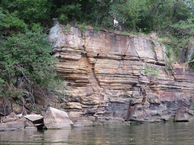 Rock strata in Eastern Oklahoma royalty free stock images