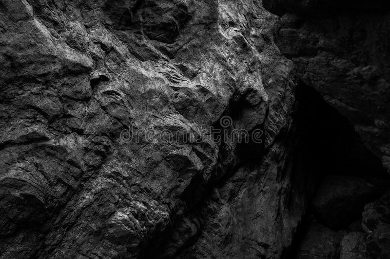 Rock texture in BW royalty free stock photos