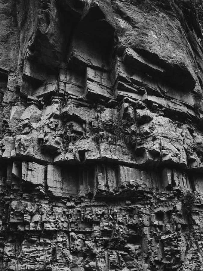 Old bridge in Tbilisi, Georgia. Rock texture in Legvtakhevi canyon with old bridge in Tbilisi, Georgia stock photography