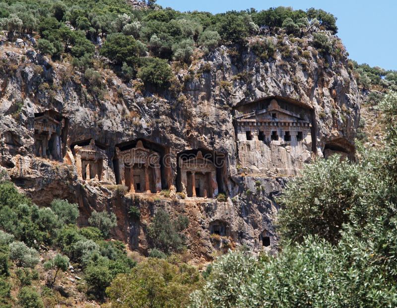 Download Rock Tombs in Turkey stock image. Image of buried, rock - 10075587