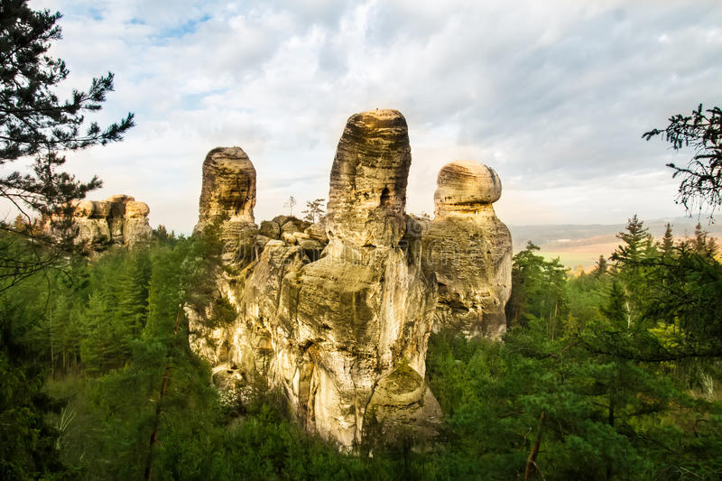 Download Rock Town In Bohemian Paradise Stock Photo - Image of cesky, beauty: 39512274