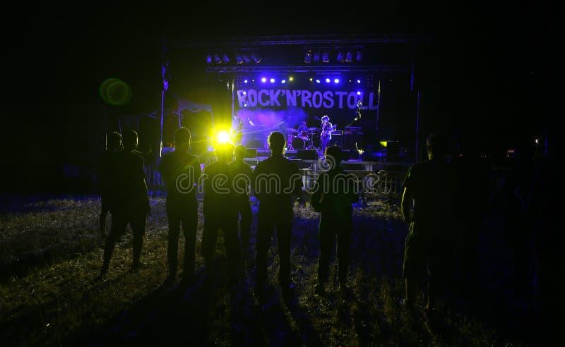 Rock- und rostollmusikfestival in Mallorca lizenzfreie stockfotos