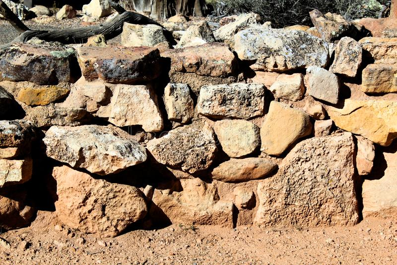 Rock wall Texture in Grand Canyon National Park at Indian Ruins royalty free stock image