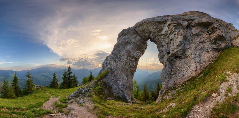Rock Window in mountain landscape.  royalty free stock image