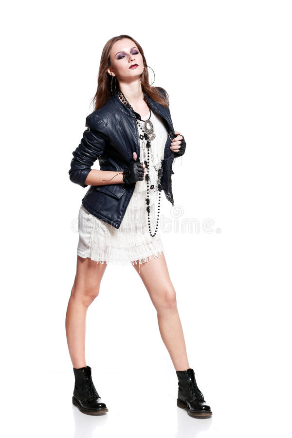 Rock woman stock photography