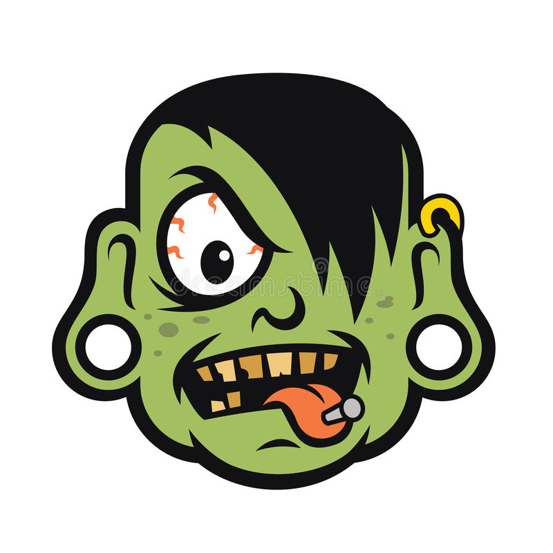 Download rock zombie head design vector stock vector illustration of logo vector 64465973