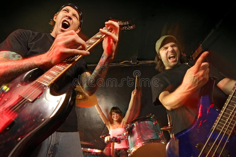 Rockbandkonzert lizenzfreies stockbild