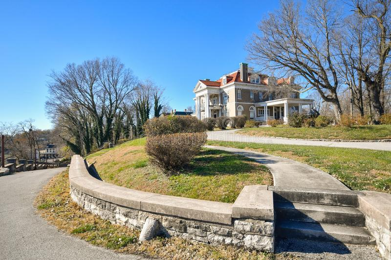 Rockcliff Mansion in Hannibal, MO. In autumn stock photo
