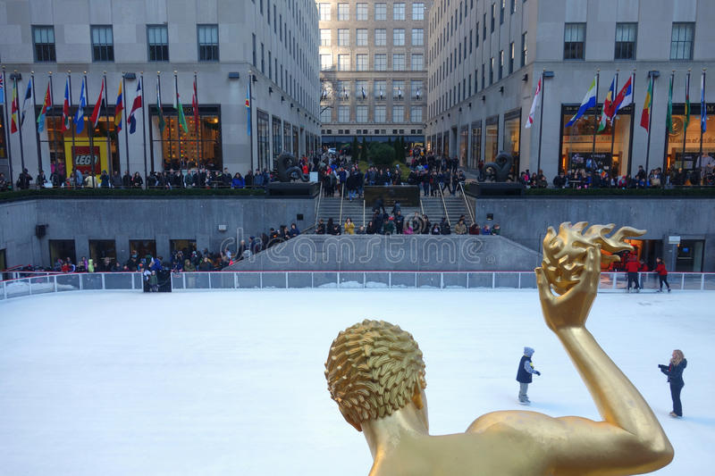 Rockefeller Center in New York City royalty free stock photo