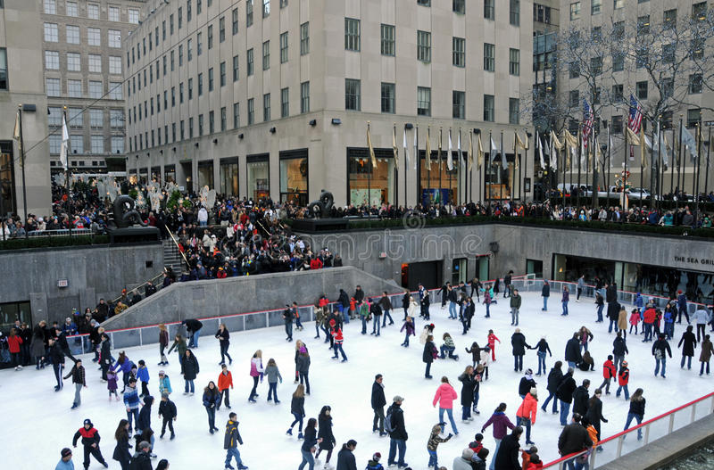Rockefeller Center Ice Skating Rink royalty free stock photos