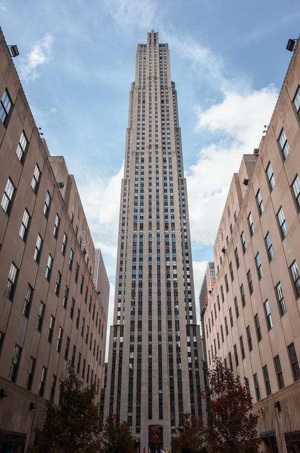 Rockefeller Center in New York City stock image