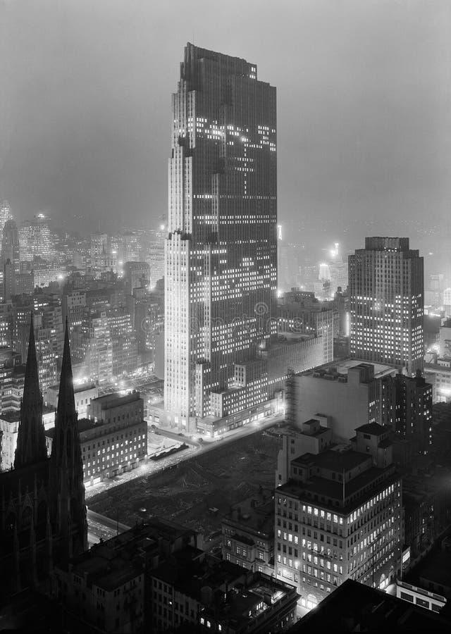 Rockefeller Center Skyscraper New York City stock photo