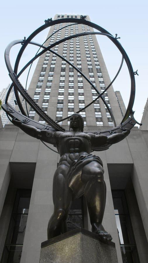 Rockefeller Center Statue, New York City stock photography
