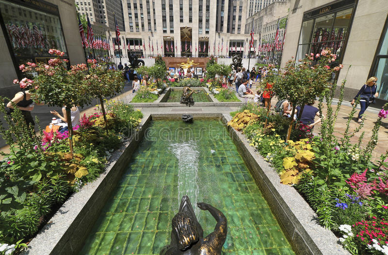 Rockefeller Center,Rock Plaza, NYC royalty free stock images