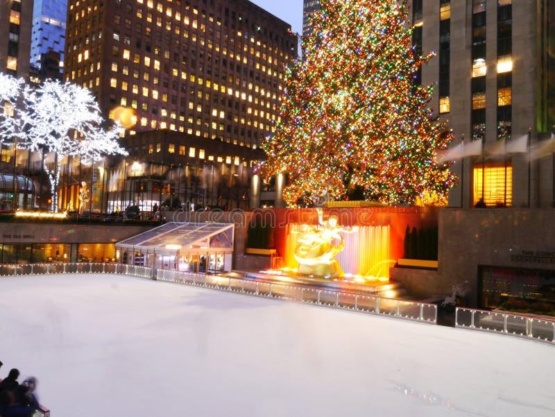 Rockefeller Christmas Tree, New York royalty free stock photos