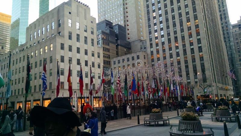Rockefeller flaga zdjęcia royalty free