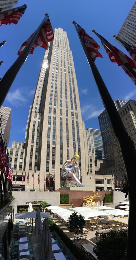 Rockefeller mittöverkant av vagga arkivfoto