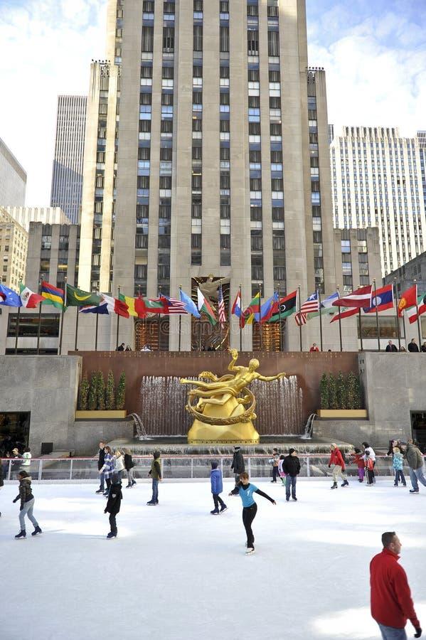 Rockefeller-Mitte in New York City lizenzfreie stockfotos
