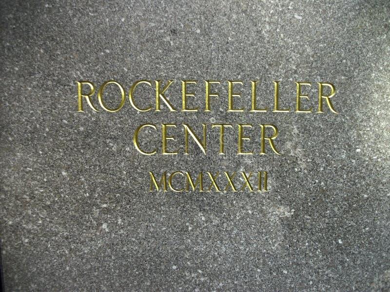 Rockefeller-Mittedruck lizenzfreie stockfotos