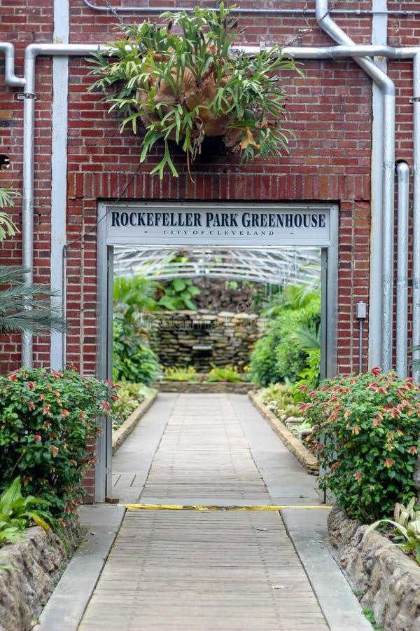 Rockefeller park greenhouse stock photos